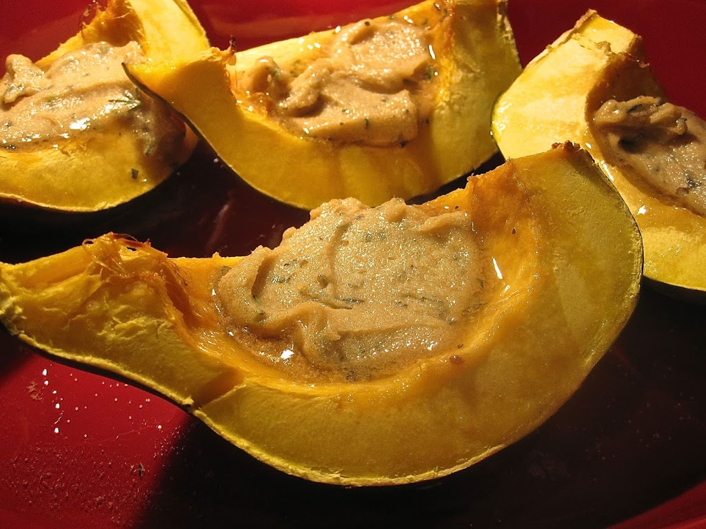 Sweet-Roasted Rosemary Acorn Squash Wedges - Catz in the Kitchen
