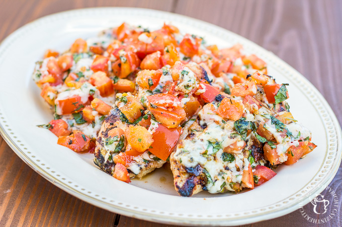 This incredibly simple recipe for grilled chicken bruschetta is one of our longest running family favorites during the spring and summer! It is fresh, full of flavor, light, and actually quite elegant!