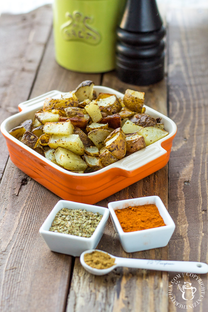 This easy, zesty little recipe for Mexican Roasted Potatoes is a handy side dish for almost any Latin-style meal - try it with tacos, burritos, and more!