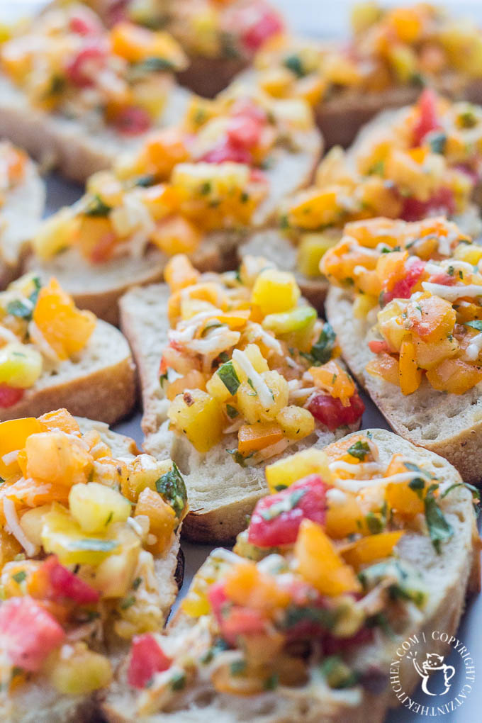 Heirloom Tomato Bruschetta is our favorite, simple go-to recipe for light, healthy summer grilling! This recipe has five ingredients, & is ready in 15 min!
