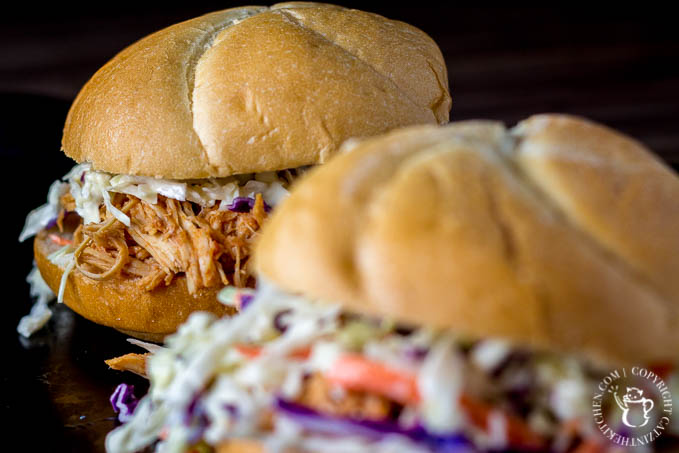 Busy nights don't have to equal pizza or fast food - with 15 min, and just a little planning, you can have these yummy slow-cooker BBQ chicken sandwiches!