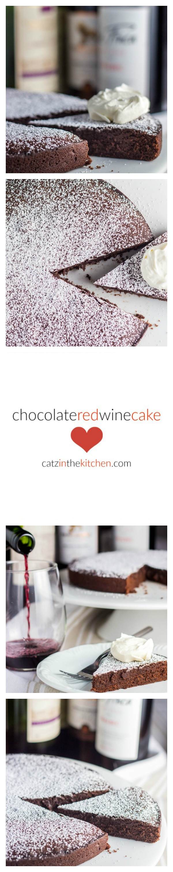 Chocolate Red Wine Cake | Catz in the Kitchen | catzinthekitchen.com | #chocolate #wine #ValentinesDay #dessert #cake