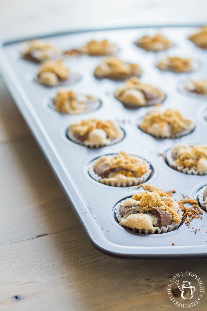 These S'more Brownie Bites are perfect for when you're craving chocolate, sweetness, and marshmallow goodness without the guilt or the fire!