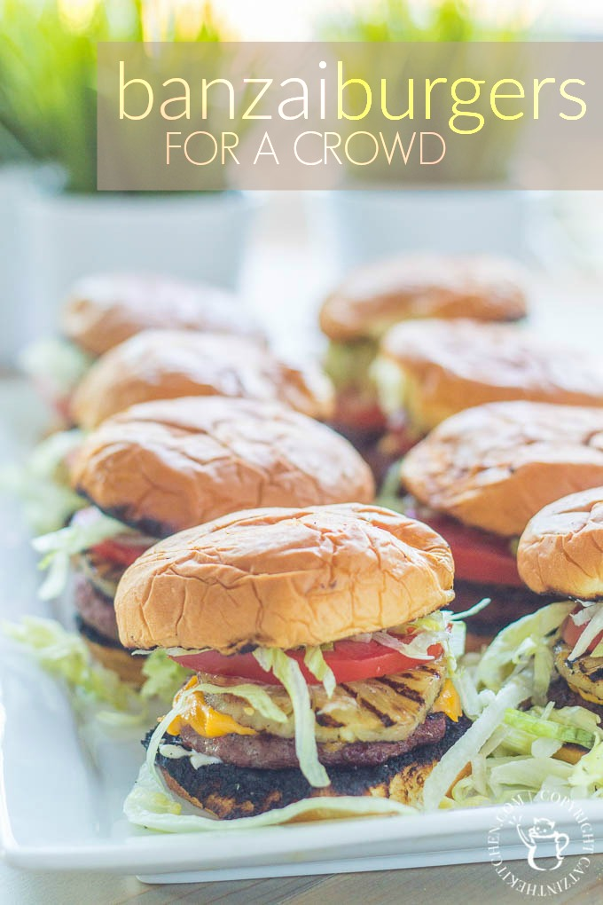 Looking for an easy way to please a hungry crowd? Try this simple, quick take on Red Robin's famous Banzai Burger - they'll be full and happy in no time!