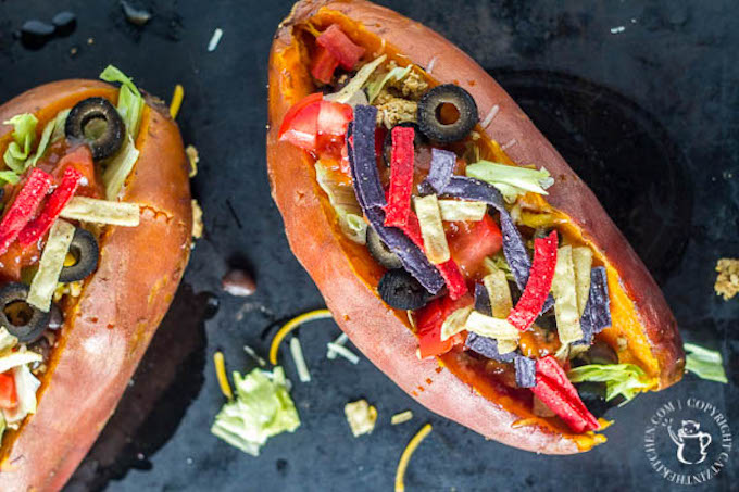 Loaded sweet potato tacos - not only served in a super food, but one filling meal that's easy to prepare, easy on the wallet, and full of flavor!