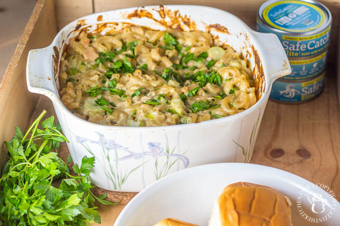 Looking to incorporate more fish into your budget? Try out my mom's tuna casserole - it's comforting, delicious, flexible, and easy!