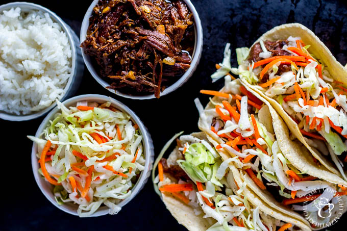 These Slow-Cooker Korean BBQ Beef Tacos have everything - texture, flavor, and timing! They're quick, easy, and oh-so-tasty!