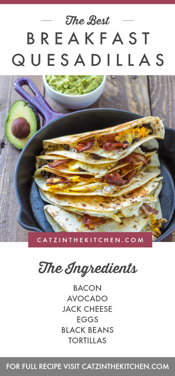"""This breakfast quesadilla recipe is one of our family's most requested """"breakfasts for dinner""""! It is incredibly simple and totally craveable!"""