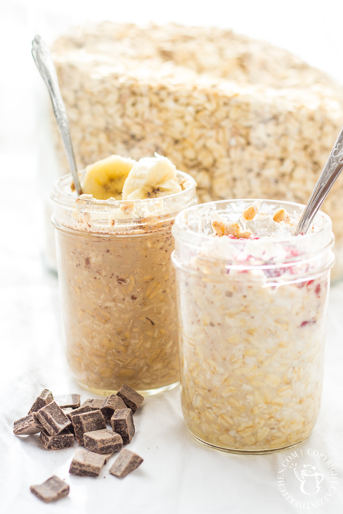 "We customize these easy, healthy, & convenient Overnight Oats to make them ""His & Hers""! They save us time & money, while keeping us full in the mornings!"