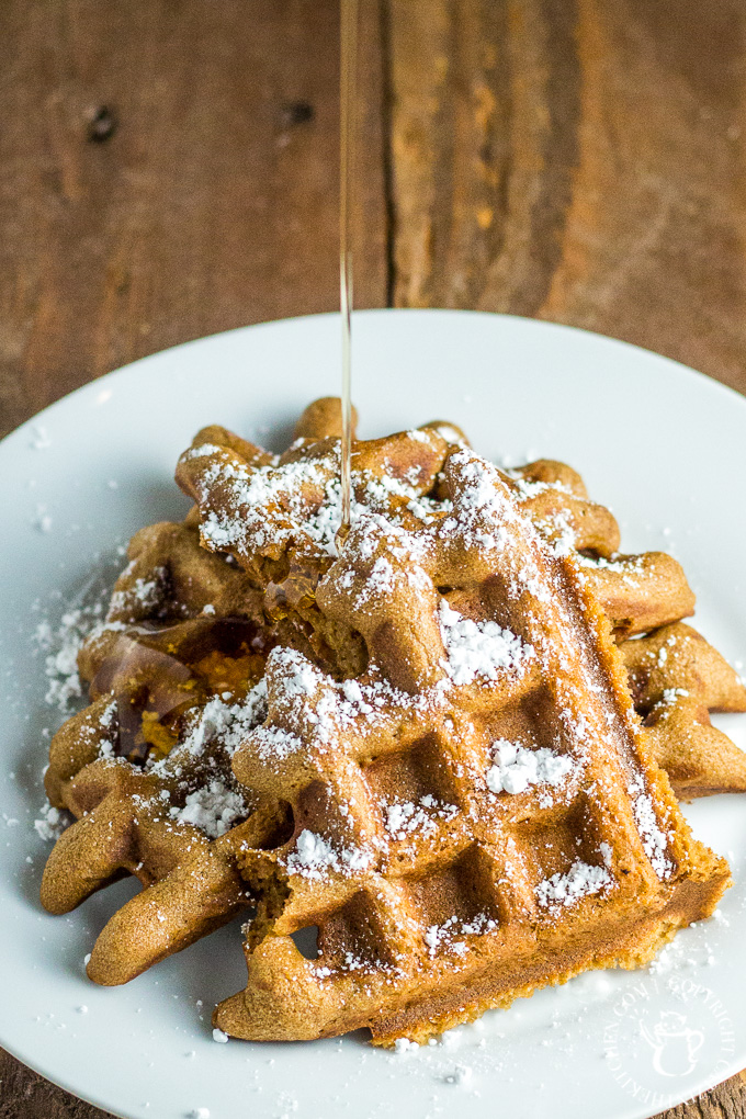 This is a simple, easy recipe for a festive, tasty breakfast! Make these gingerbread waffles during the holidays...or anytime! The gingerbread flavor is subtle, pleasant, and unmistakeable.