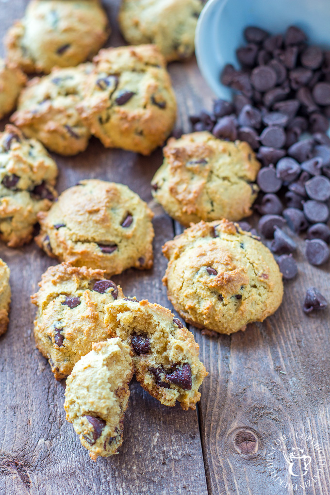 """Whether you're actually on a paleo diet or not, these paleo chocolate chip cookies should make their way onto your dessert menu! They're just as tasty as the original, but with natural sugars and """"healthy"""" fats, you can feel just a bit better about eating them..."""