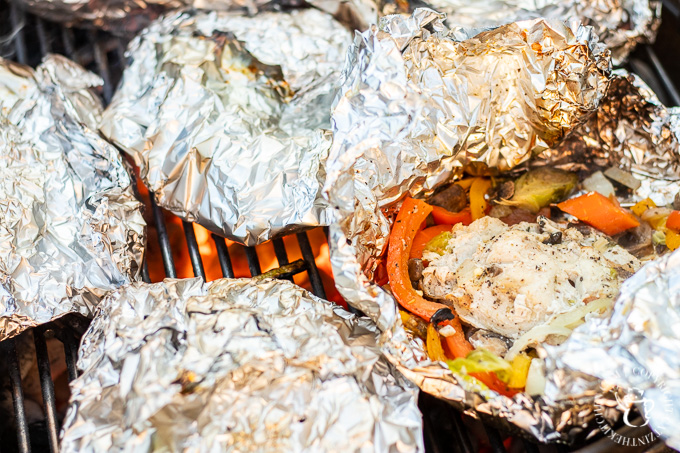 Grilling these simple chicken foil packets is an easy, tasty way to get a flavorful, healthy meal on the table, whether you're camping or at home!