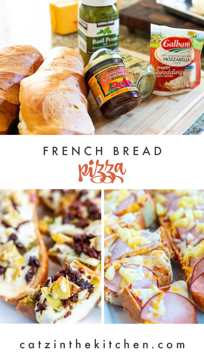 Wanting to make your own pizza but a little intimidated by making your own dough? Try this easy, flexible recipe for pesto French bread pizza!