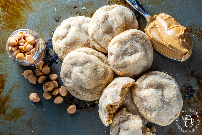 """Whether you need cookies for a holiday party or just because, make this easy, """"improved"""" recipe for peanut butter chip cookies together with your kids!"""