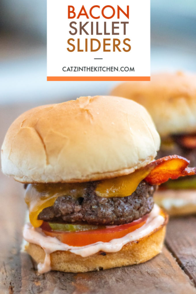 We have struggled with making good classic sliders at home, but these bacon skillet sliders with homemade thousand island dressing are getting it RIGHT.